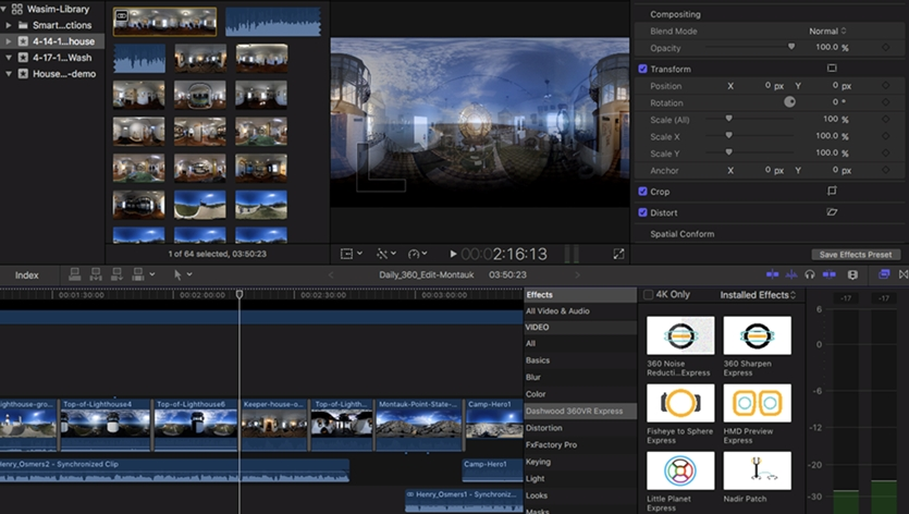 Workspace dan Timeline Final Cut Pro X